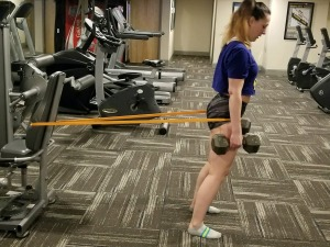 Melissa Training Thighs and Glutes