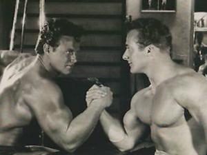 Steve Reeves and George Eiferman Posing