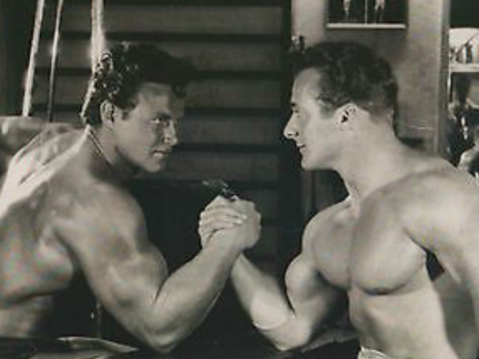 Steve Reeves and George Eiferman Posing