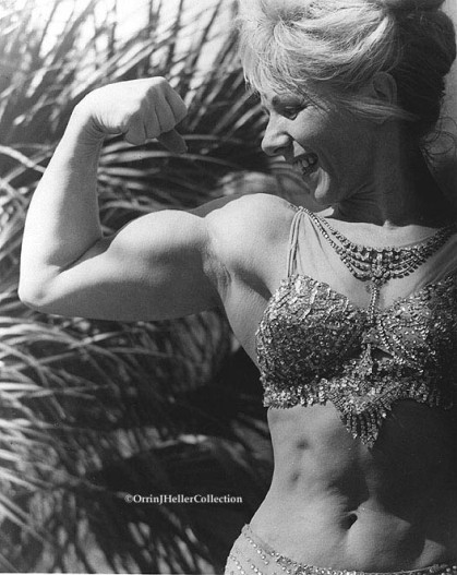 Oldtime Circus Strongwoman Posing