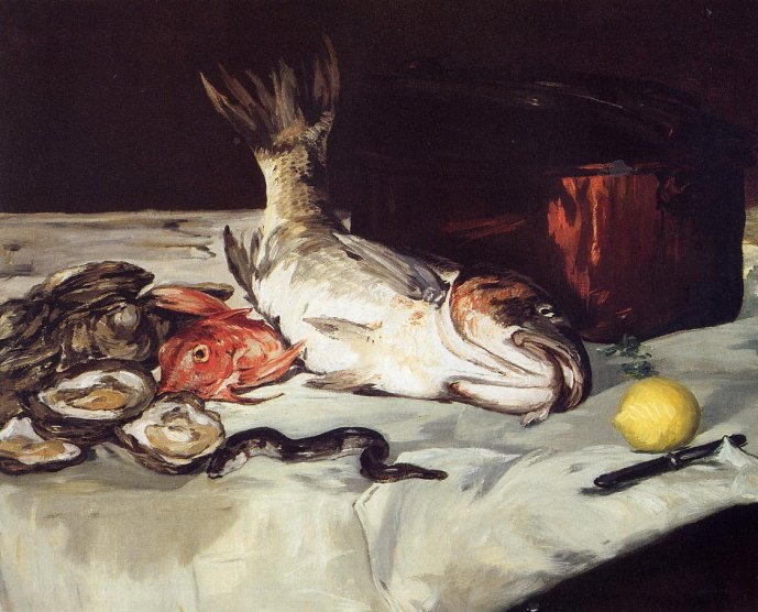 Edouard Manet Still Life with Fish