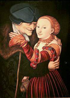 Lucas Cranach the Elder The Old Man in Love