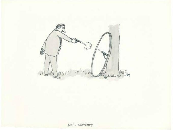 William Steig titled Self-Contempt