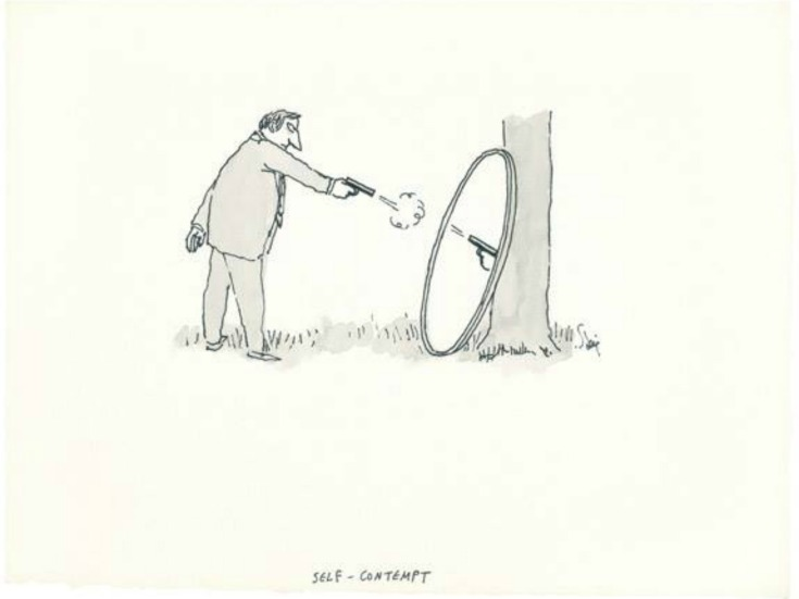 William Steig titled Self-Contempt