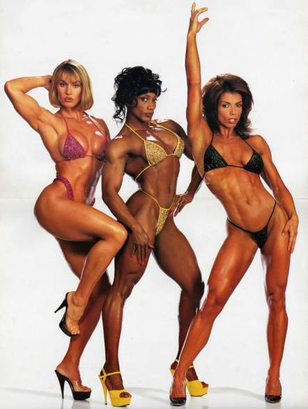 Corinna Cory Everson Lenda Murray Sharon Bruneau Posing