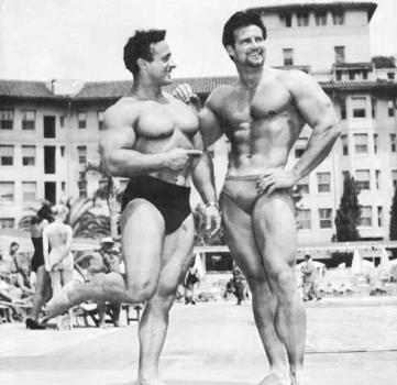 George Eiferman and Steve Reeves Posing