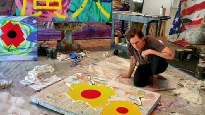 Photograph of Jim Carrey Painting