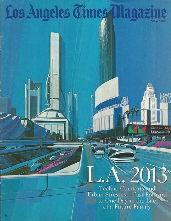 Prediction of L.A. in 2013 from 25 years ago