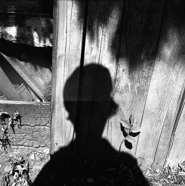Vivian Maier, Self-Portrait (Shadow on Wood), ca. 1960