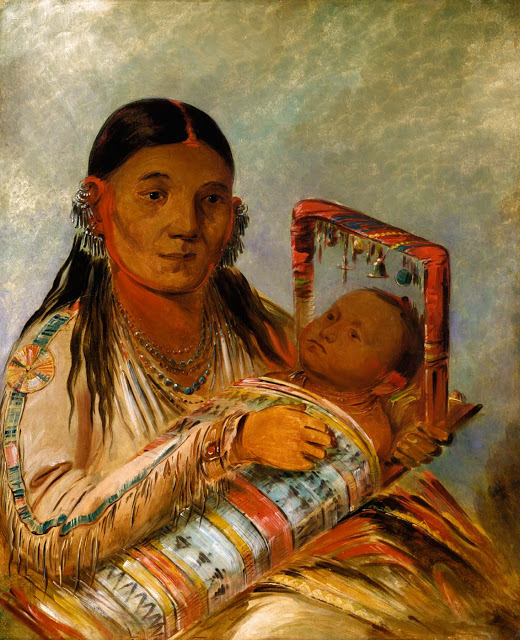 Mother with Child by George Catlin