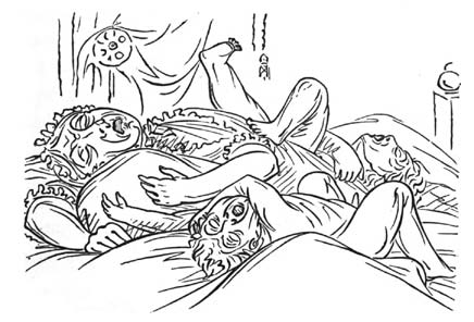 Natural and Unnatural Sleep Illustrations 2 by George Catlin from Shut Your Mouth