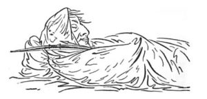 Natural and Unnatural Sleep Illustrations 5 by George Catlin from Shut Your Mouth