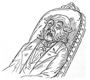 Natural and Unnatural Sleep Illustrations 6 by George Catlin from Shut Your Mouth