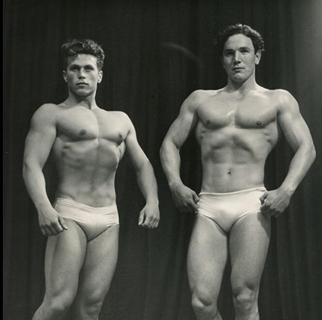 Charles Kleijniak and Hubert Thomas Posing