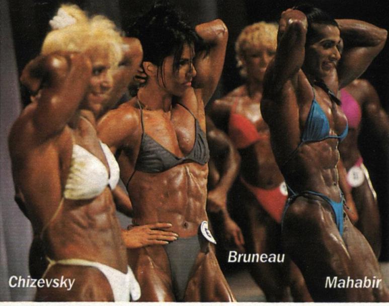 Kim Chizevsky, Sharon Bruneau, Marie Laure Mahabir Posing