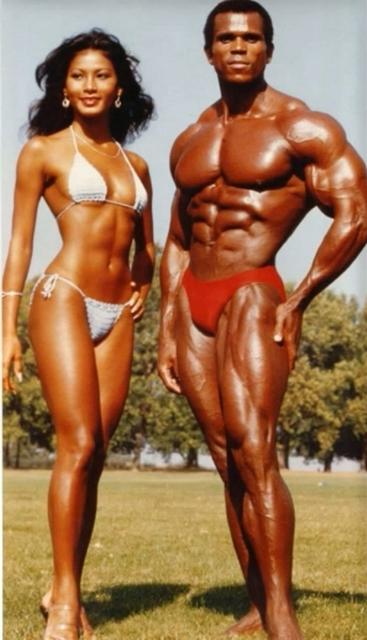 Sandra Kong and Serge Nubret Posing