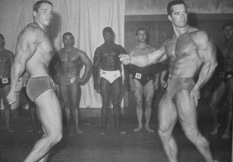 Chester Yorton and Arnold Schwarzenegger Posing