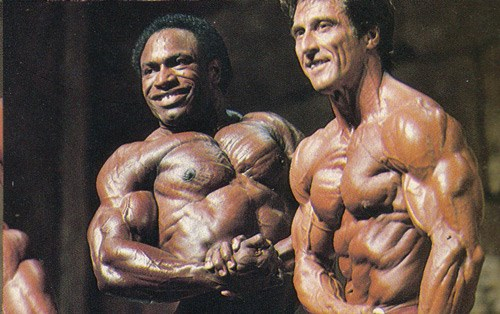 Lee Haney and Frank Zane Posing