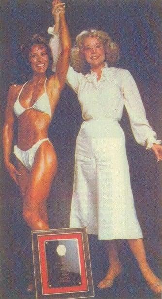 Rachel and Betty Weider Posing