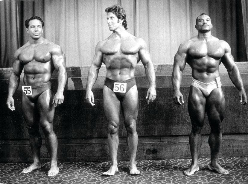 Bill Pearl, Reg Park, and Sergio Oliva Posing