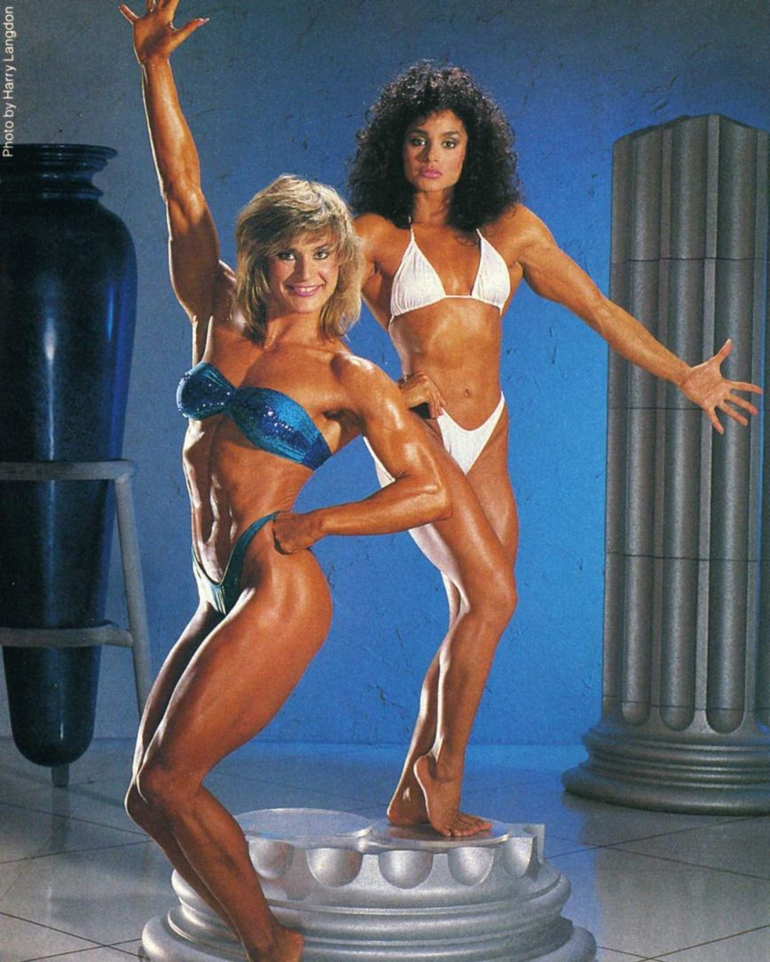 Corinna Cory Everson and Gladys Portugues Posing