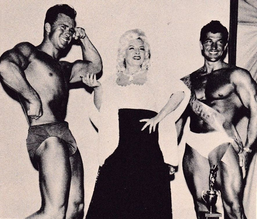 Ed Fury, Mae West, and Reg Lewis Posing