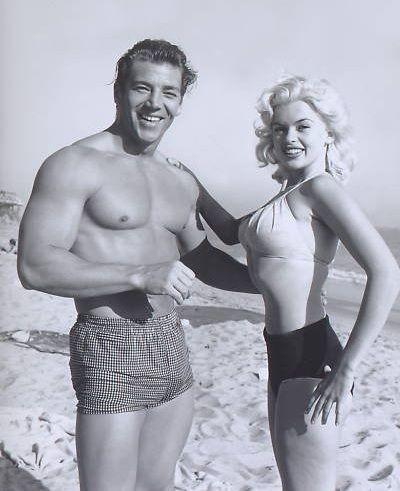 Mickey Hargitay and Jayne Mansfield Posing