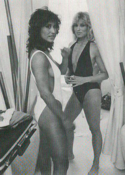 Rachel Mclish and Winnie Gardner Posing