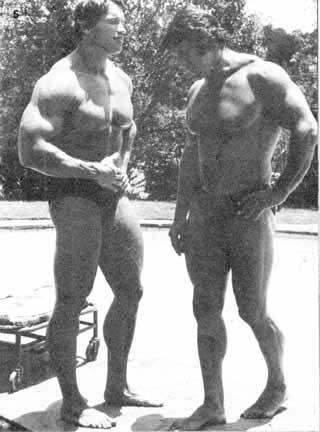 Arnold Schwarzenegger and Reg Park Posing