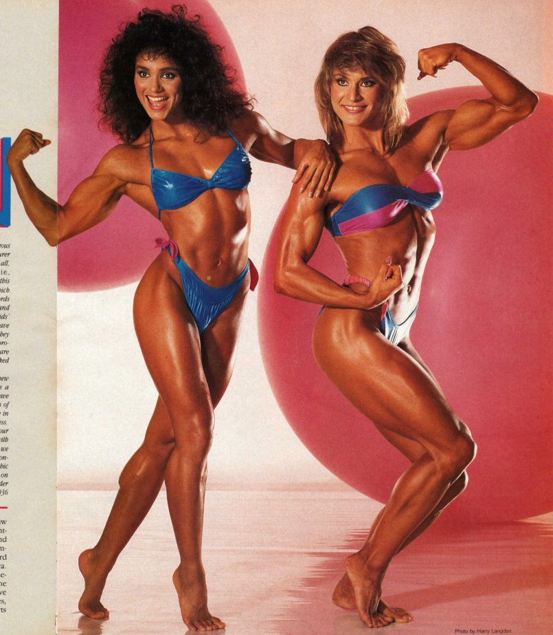 Gladys Portugues and Corinna Cory Everson Posing