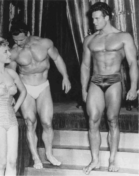 John Grimek and Steve Reeves Posing