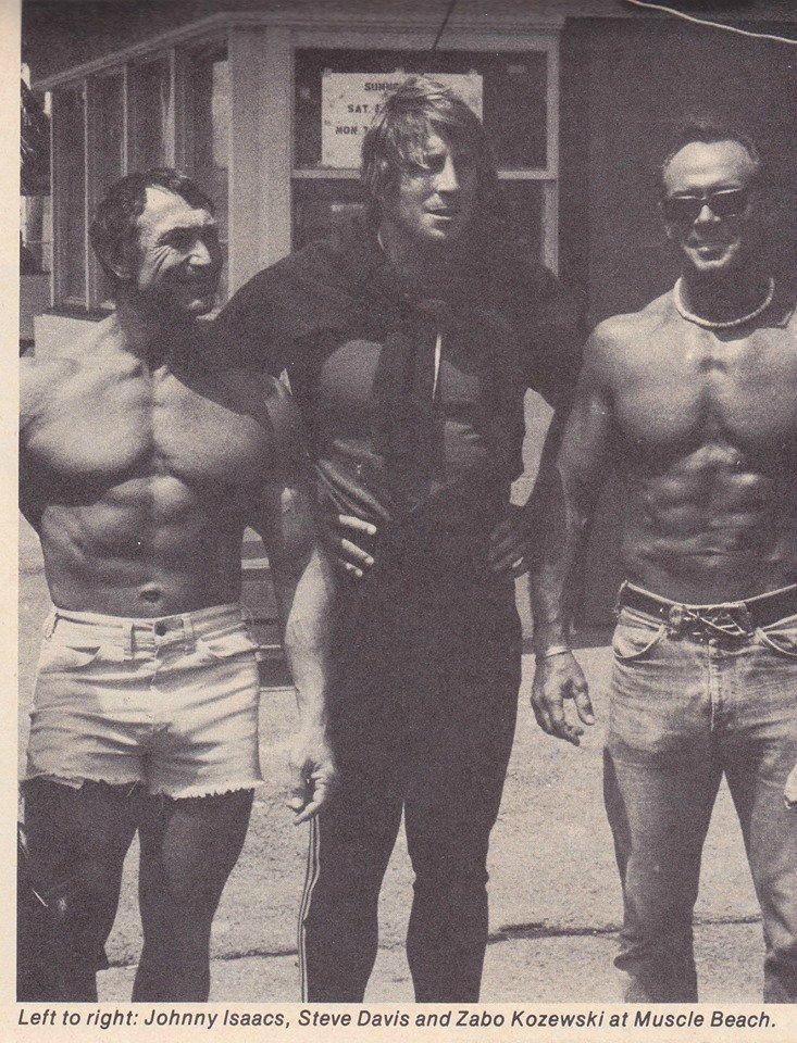 Johnny Isaacs, Steve Davis, and Irvin Zabo Kozewski Posing