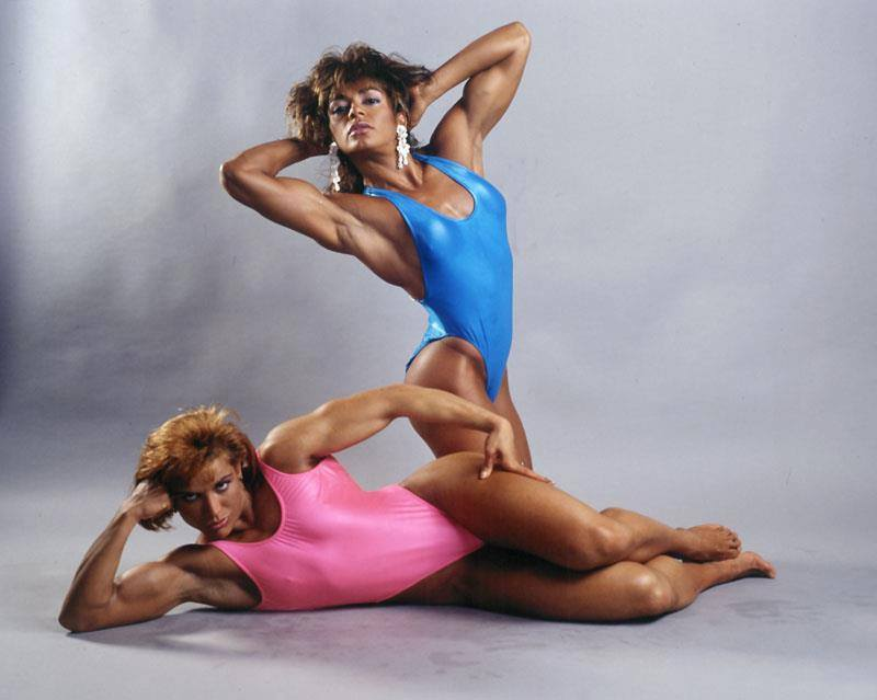 Juliette Bergmann and Lupita Lugo Posing