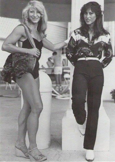 Kay Baxter and Rachel McLish Posing