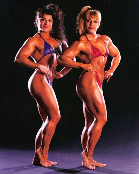 Liona Bergmann and Juliette Bergmann Posing