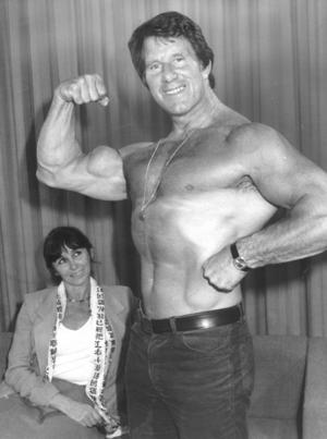 Reg Park and Mareon Park Posing
