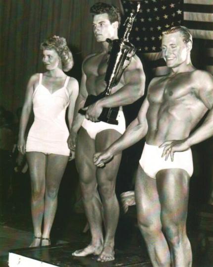 Steve Reeves and Alan Stephan Posing