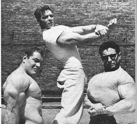Bruce Randall, Abe Goldberg, and Bob Hines Posing
