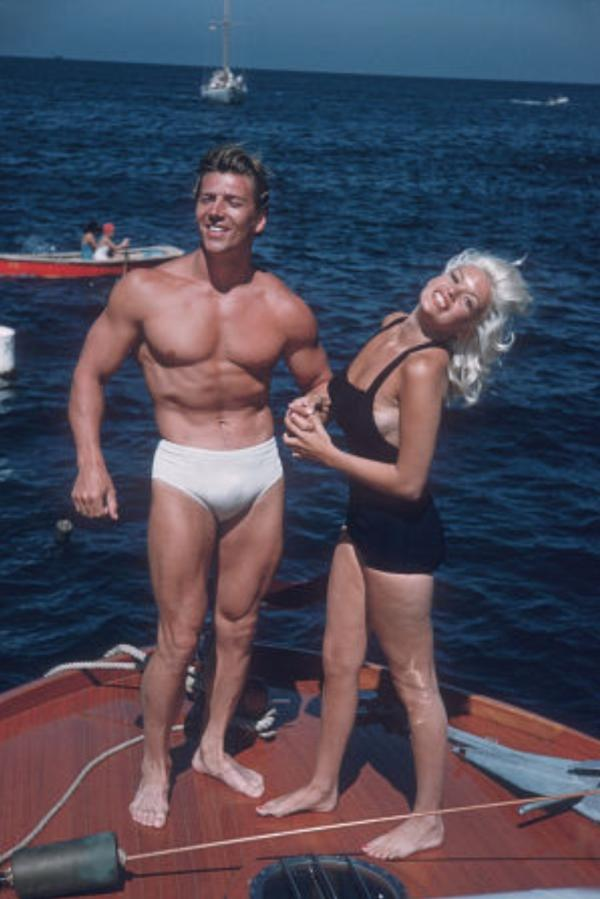 Mickey Hargitay and Jayne Mansfield Posing part 5