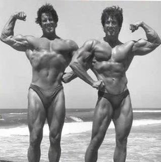 Reg Park and Frank Zane Posing