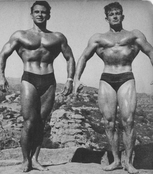 Vince Gironda and Monty Wolford Posing