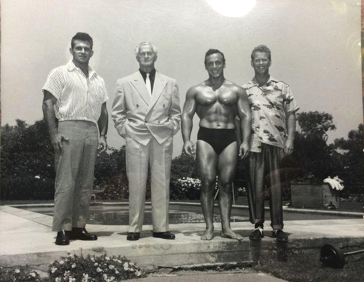 Vince Gironda, Earle Liederman, George Eiferman, and Russ Warner Posing