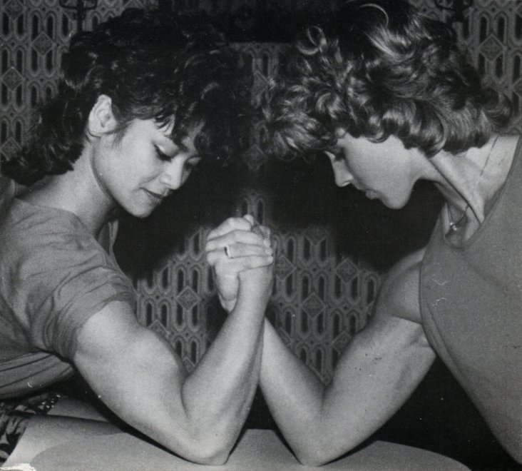 Winnie DeVries and Joyce Paardekam Posing