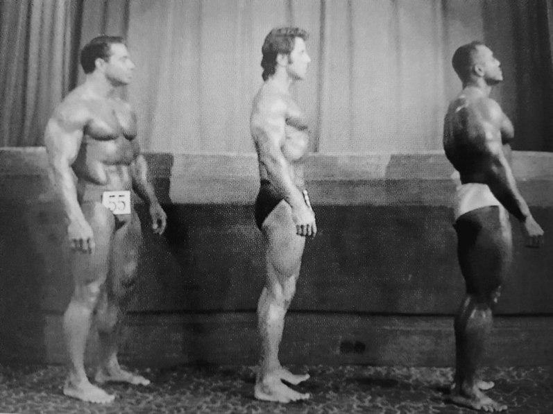 Bill Pearl, Reg Park, and Sergio Oliva Posing