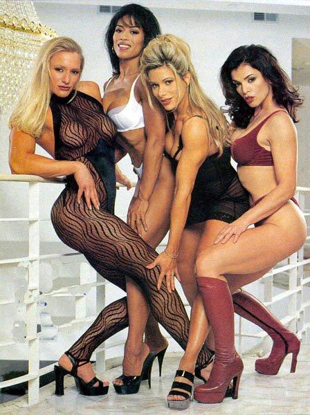 Ericca Kern, Milamar Flores, Theresa Hessler, and Sharon Bruneau Posing