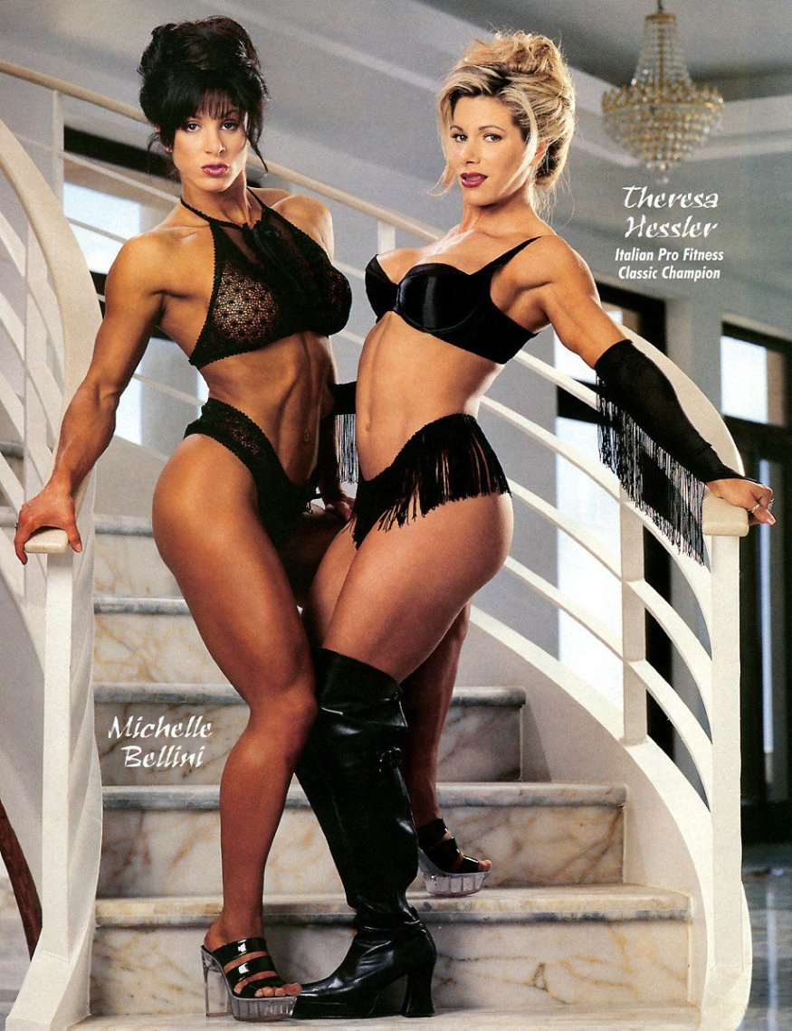 Michelle Bellini and Theresa Hessler Posing