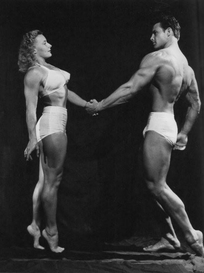 Steve Reeves and Abbye Eville Pudgy Stockton Posing part 4