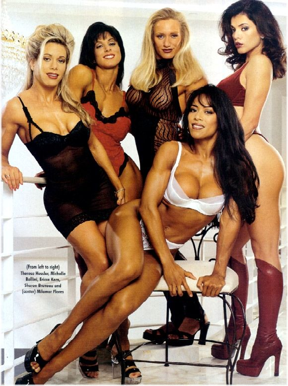 Theresa Hessler, Michelle Bellini, Ericca Kern, Sharon Bruneau, and Milamar Flores Posing